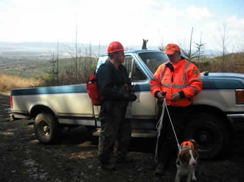 Working with search dog