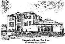 Wahkiakum County Courthouse Sketch